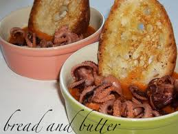 Octopus Home Bread And Butter Baby Octopus Alla Diavola Spicy Tomato