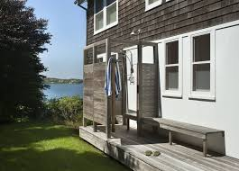 Outdoor Showers Fixtures - new york outdoor shower fixtures patio beach style with grass