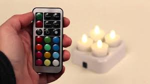 set of 4 remote color changing led rechargeable tea lights
