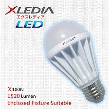 xledia led bulb x100n a19 100w equivalent 1710 lumen cool white