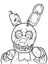 freddy five nights at freddys printable coloring pages printable