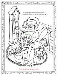 reading santa printable coloring page