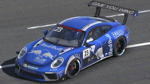 red bull blue edition porsche 911 gt3 by stephane parent trading