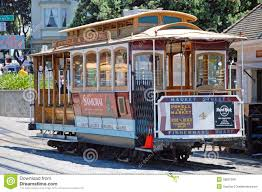 San Francisco Tram Map by Cable Car Tram Railway In San Francisco Usa Editorial Image