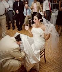 jarretiere mariage secret caché sous la tenue de mariage est la jarretière de la