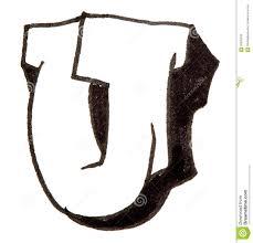 letter u alphabet in graffiti style stock photo image 56600332