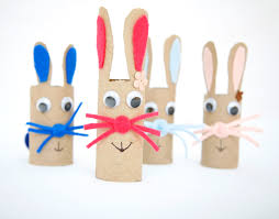 cardboard tube bunny craft fun family crafts