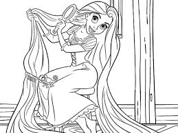 Princess Rapunzel Tangled Disney Coloring Pages Bebo Pandco Coloring Pages Tangled