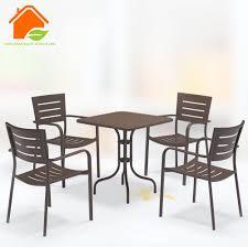 aluminium extension table outdoor polywood table aluminium