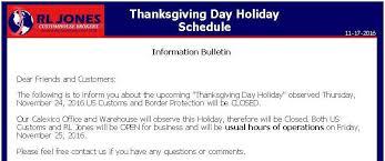 calexico thanksgiving day schedule r l jones
