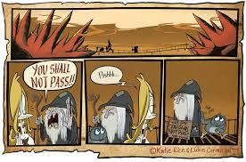 You Shall Not Pass Meme - dumm comics you shall not pass