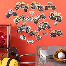 wall decal design fathead monster jam wall decals wonderful