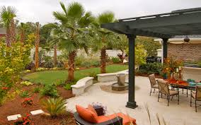 Patio Around Tree Design Ideas Backyard Designs Behind Garage With Benches And
