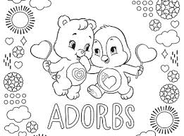meet bright heart raccoon care bears coloring ag kidzone