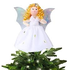 angel decorations for home aytai small angel christmas tree topper 7 inch angel ornaments for