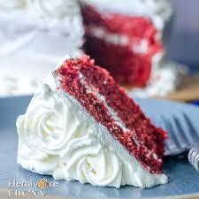 herbivore cucina eggless red velvet cake