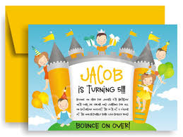 bounce house invitations myexpression 18904