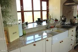 kitchen cabinet doors belfast country kitchen granite worktops belfast sink gas range cooker shakercabinets stock photo image now