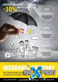 free insurance company psd flyer template download