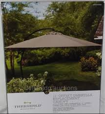 Umbrella Replacement Canopy by Amazon Com Home Threshold Neutral 11 U0027 Offset Outdoor Patio