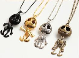 big chain necklace images Ufo alien skull head chain necklace with big eyes jewelry diary jpg