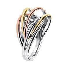 kif wedding band calvin klein crisp three coloured ring january winter sale 2016