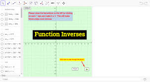 Inverse Functions Worksheet Answers Inverse Function Basics Geogebra
