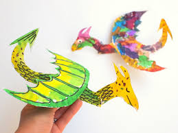 paper dragons how to make colorful and flying paper plate dragons pink