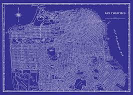 San Francisco Street Map by San Francisco Map Black Street Map Vintage