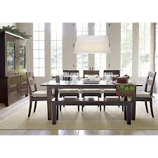 Crate And Barrel Farmhouse Table Basque Java 82 Inch Dark Brown Dining Table
