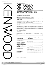 download free pdf for kenwood kr a4060 receiver manual