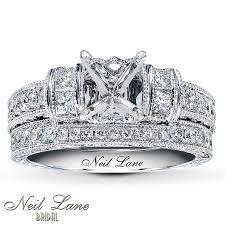 neil lane engagement rings jared diamond bridal setting 1 ct tw 14k white gold