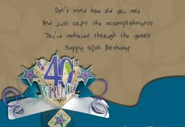 40th birthday poems turning 40 years old poems