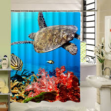 kids shower curtain polyester fabric 3d print waterproof bathroom