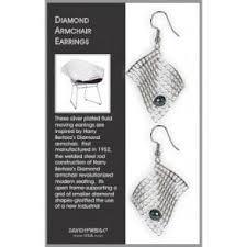 earrings new york diamond armchair earrings the new york library shop