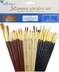 amazon com 18 fine art paint brushes for acrylic oil