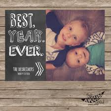 best year ever chalkboard holiday christmas card available