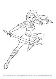 learn how to draw katana from dc super hero girls dc super hero