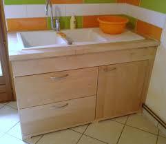 meuble bas evier cuisine a la cuisine bois en couleurs