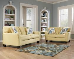Ashley Living Room Furniture Sets Kylee Goldenrod 2 Piece Sofa And Loveseat Set By Signature