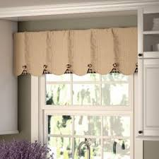 Curtain Designs For Kitchen by Window Valances Café Kitchen Curtains You Ll Wayfair