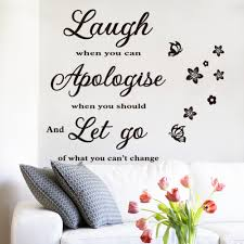 aliexpress com buy wallpaper laugh apologize let go letters aliexpress com buy wallpaper laugh apologize let go letters waterproof vinyl wall quotes flower butterfly decal home decor wall stickers from reliable