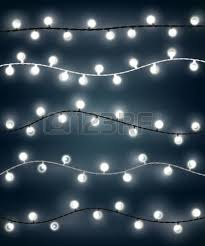 and white christmas lights white garland style christmas lights on the gray background