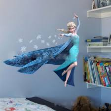 3d wall stickers roselawnlutheran queen elsa frozen 3d wall stickers olaf decorative wall decal cartoon wallpaper kids frozen decoration christmas