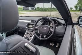 land rover convertible interior range rover evoque convertible review carwitter