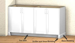 how to trim base cabinets base cabinet millwork