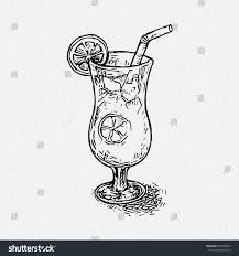 old fashioned cocktail drawing cocktail glass drawing stock vector 555294550 shutterstock