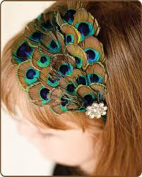 peacock headband peacock feather headband baby headband newborn feather