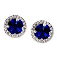 blue stud earrings karrie s sapphire blue stud earrings jewelry