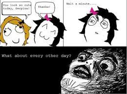 Foto Meme Comic - image meme comic you look so cute today jpg an awesome girl wiki